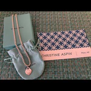 Return to Tiffany Heart Charm Bead Necklace